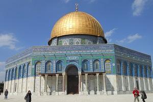 De rotskoepelmoskee in Jeruzalem, Israël